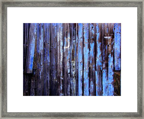 Enduring Blue Framed Print