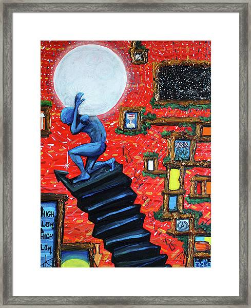 Energy Flow, The Active Space And The Effects Of The Rising Moon Framed Print