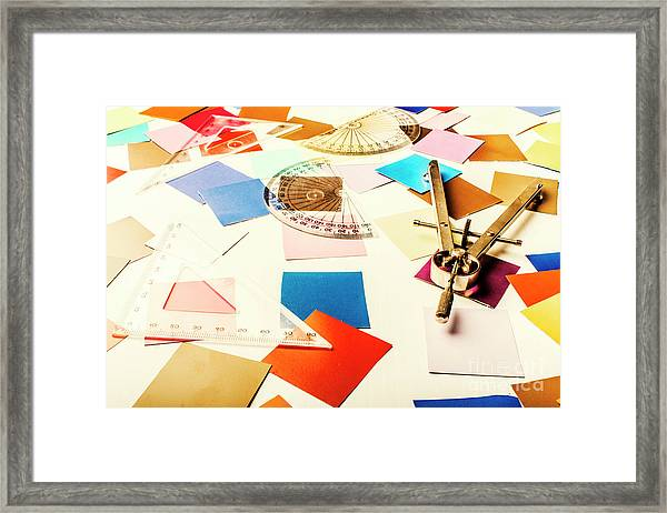 Engineering Colour Rules Framed Print