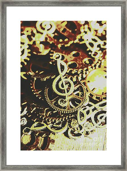 Engineering The Music Industry Framed Print