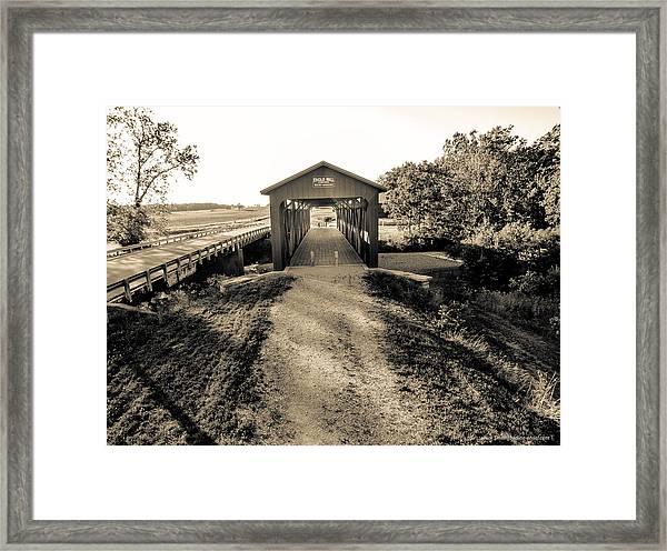 Engle Mill Covered Bridge Framed Print