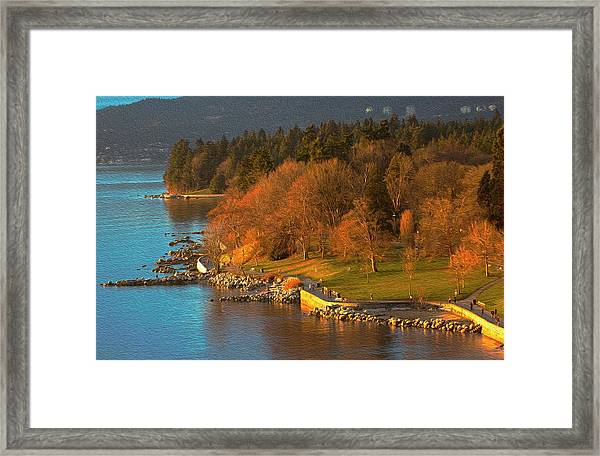English Bay At Golden Hr. Framed Print