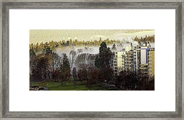 English Bay Fog Framed Print