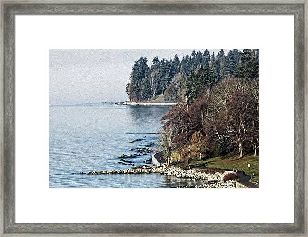 English Bay Shore Framed Print