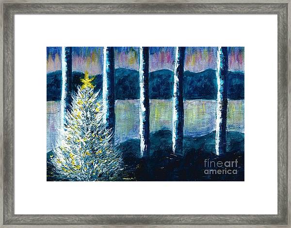 Enlightened Forest  Framed Print