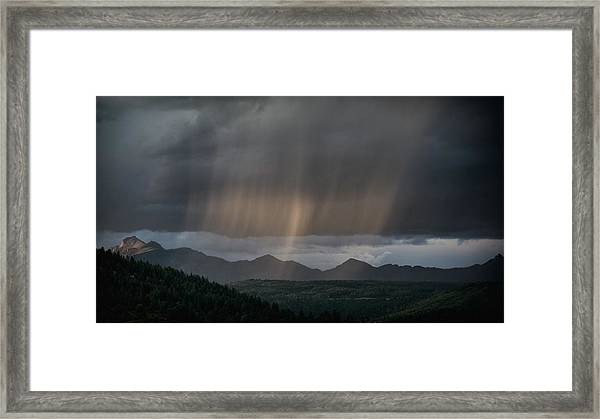 Enlightened Shafts Framed Print