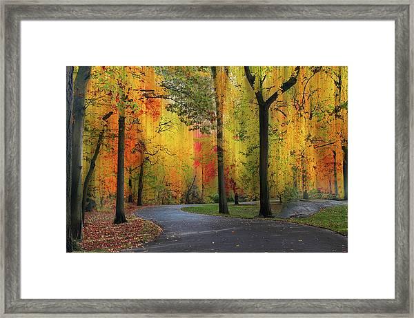 Ensconced In Autumn Framed Print