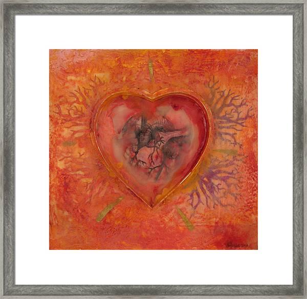 Enshrine - Outward Heart Framed Print