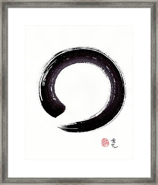 Enso - Embracing Imperfection Framed Print