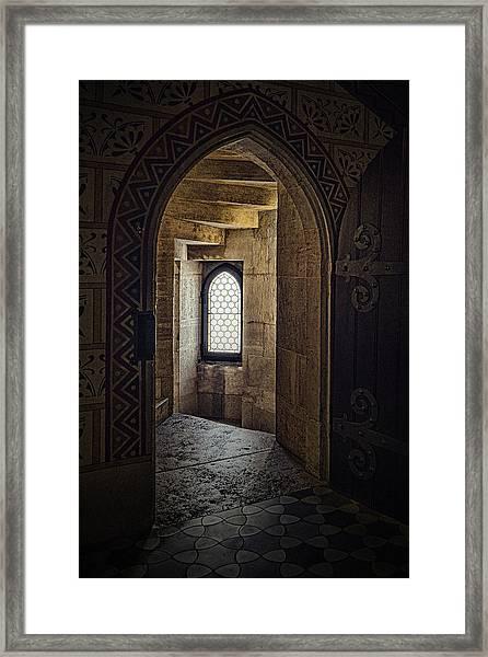 Enter For Enlightenment Framed Print