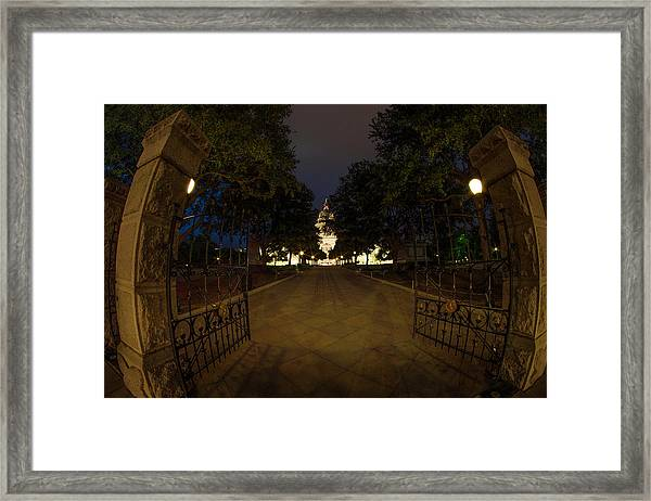 Enter Here Framed Print