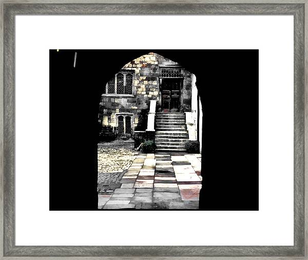 Enter London Framed Print