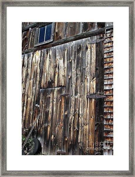 Enter The Barn Framed Print