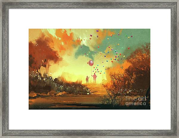 Framed Print featuring the painting Enter The Fantasy Land by Tithi Luadthong