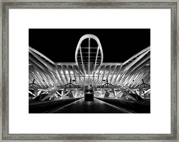 Entering Framed Print