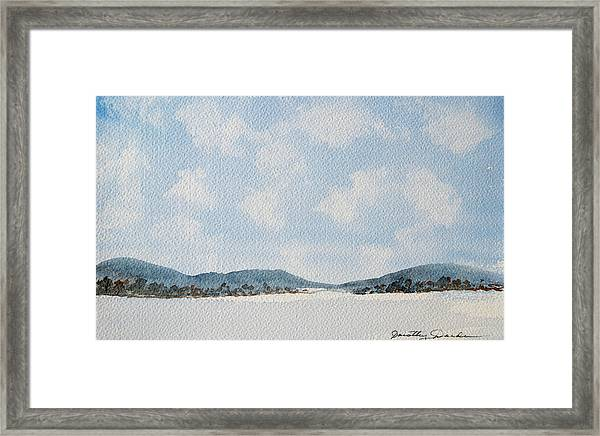 Entrance To Moulters Lagoon From Bathurst Harbour Framed Print