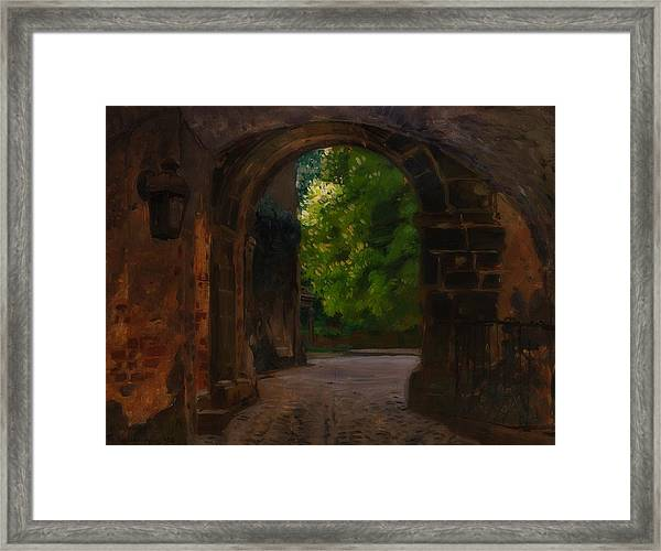 Entrance To The Castle Wiesenburg In The Mark Framed Print