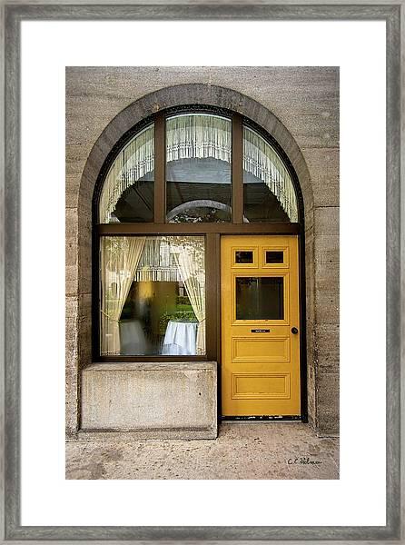 Entry Geometrics Framed Print
