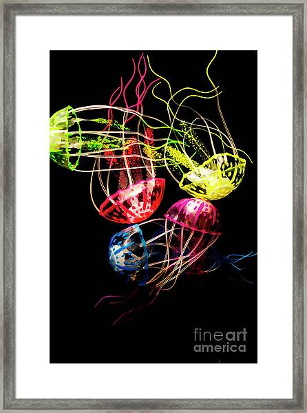 Entwined In Interconnectivity Framed Print