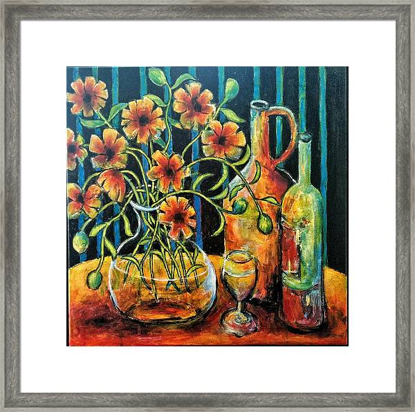 Entwining Poppies Framed Print
