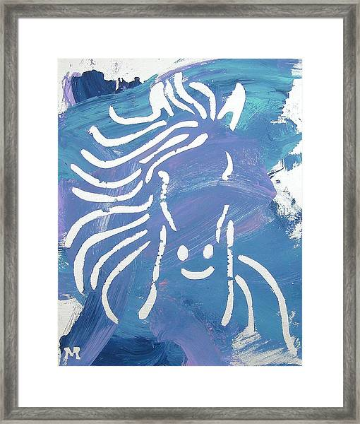 Framed Print featuring the painting Enviable Mane by Candace Shrope