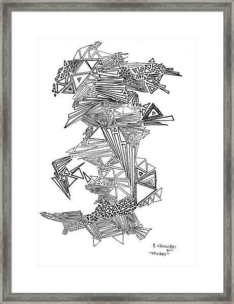 Epitaxy Ink Drawing By Regina Valluzzi Framed Print