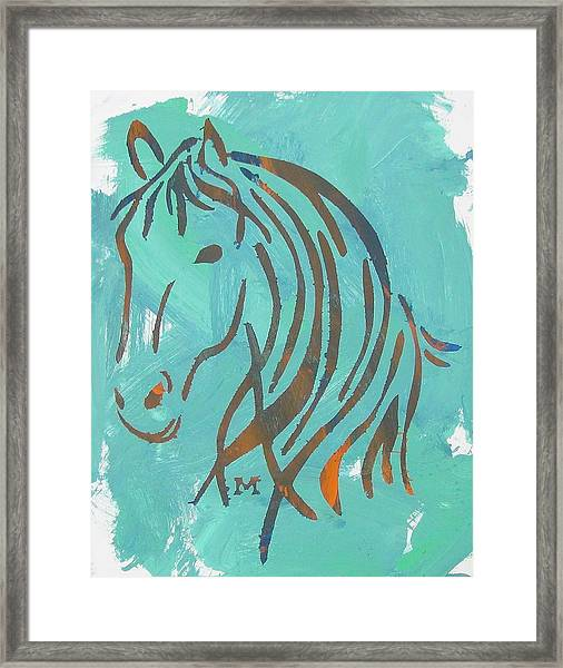 Framed Print featuring the painting Equus by Candace Shrope