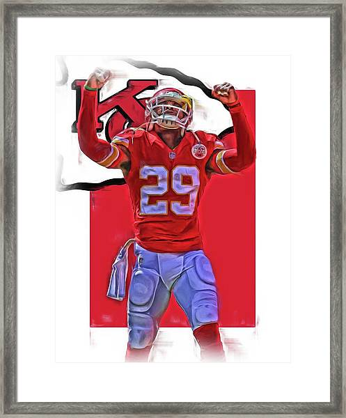 Eric Berry Kansas City Chiefs Oil Art Framed Print