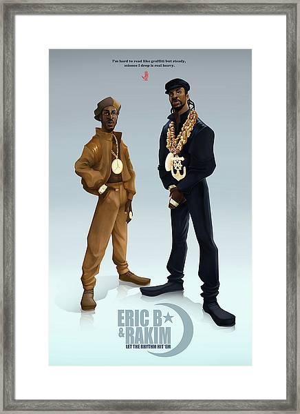 Ericb And Rakim Framed Print by Nelson Garcia