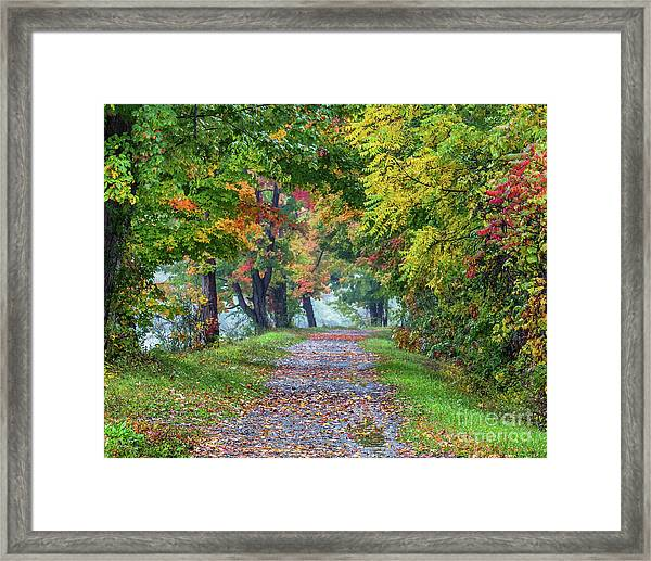 Erie Canal In Fall Framed Print
