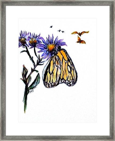 Erika's Butterfly One Framed Print