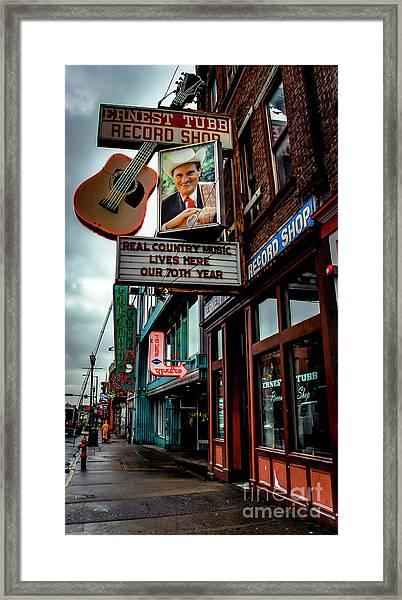 Ernest Tubb Record Shop Framed Print