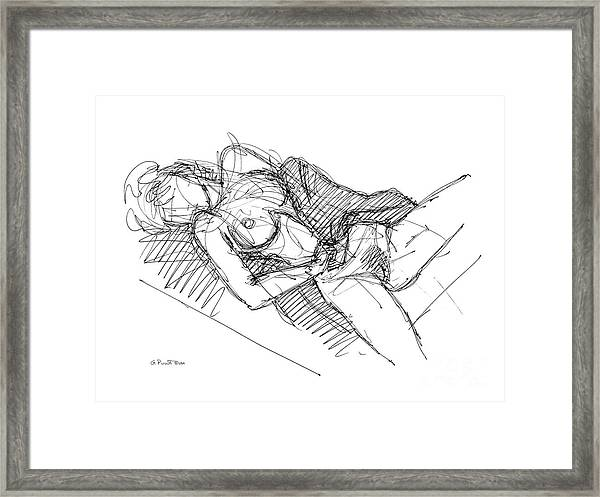 Erotic Art Drawings 7 Framed Print