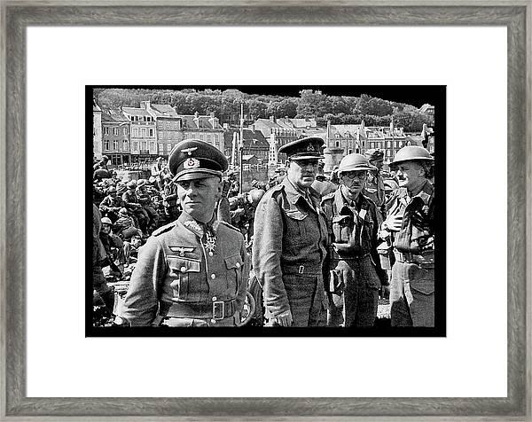 Erwin Rommel And Captured British Soldiers Tobruck Libya 1942 Color Added 2016  Framed Print