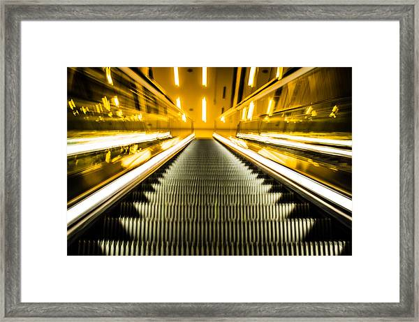 Escalator Framed Print