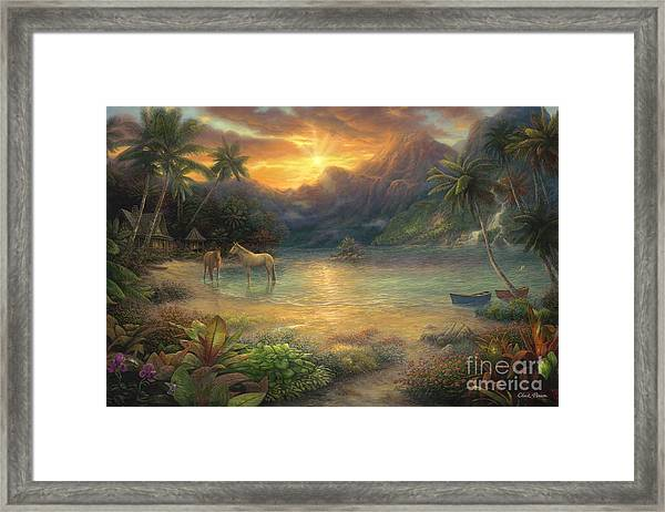 Escape To Tranquility Framed Print
