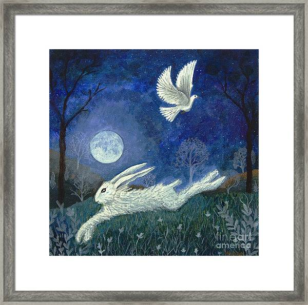 Escape With A Blessing Framed Print