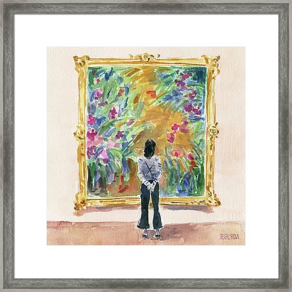 Escaping Into Monet's Garden Framed Print