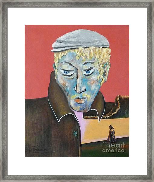 Esenin Framed Print by Ushangi Kumelashvili