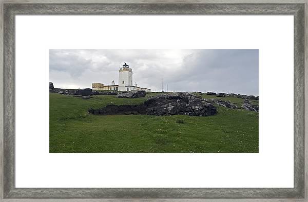 Eshaness Lighthouse Framed Print by Steve Watson
