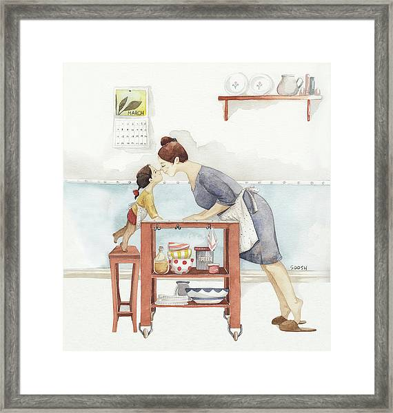 Eskimo Kiss Framed Print