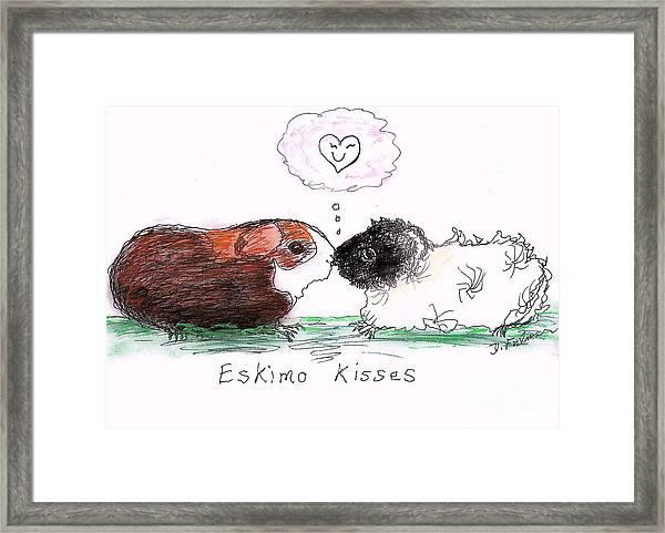 Eskimo Kisses Framed Print