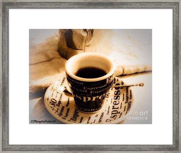 Espresso Anyone Framed Print