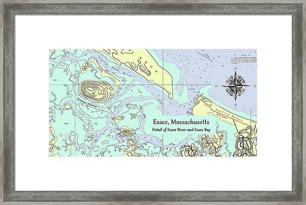 Essex River Detail Framed Print