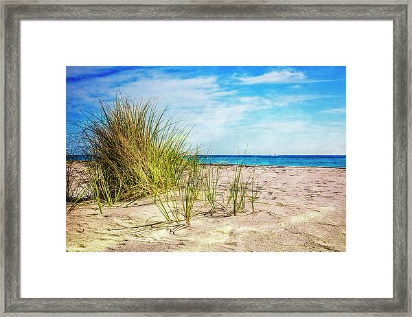 Etchings In The Sand Framed Print
