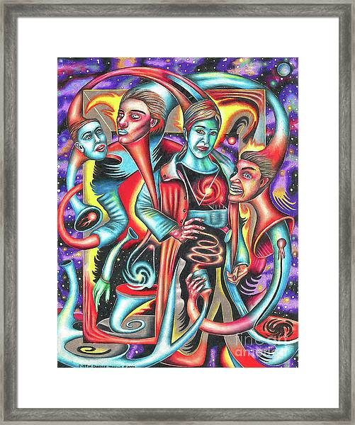 Eternal Discord Of Entwined Temptations Framed Print