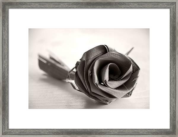 Eternal Rose In Sepia Framed Print