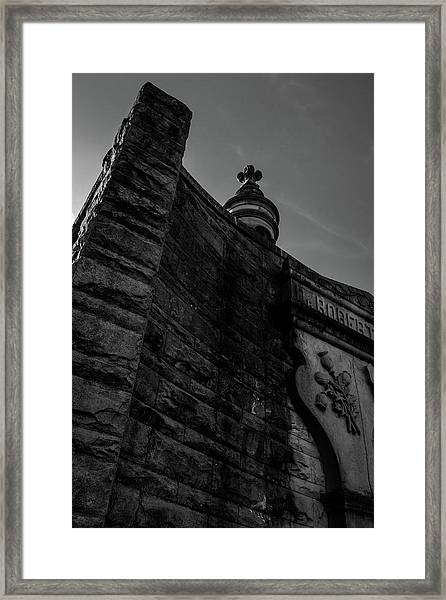 Eternal Stone Structure Bw Framed Print