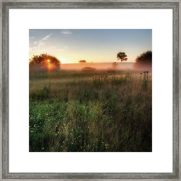 Ethereal Sunrise Square Framed Print