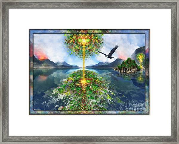 Etheric Lake Framed Print